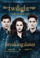 Cover image for The twilight saga. Breaking dawn two-movie set