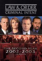 Imagen de portada para Law & order, criminal intent The second year, 2002-2003 season