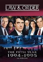 Cover image for Law & order The fifth year, 1994-1995 season
