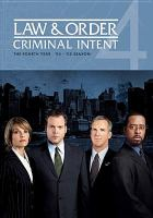 Imagen de portada para Law & order, criminal intent The fourth year, '04-'05 season