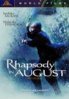Cover image for Hachigatsu no kyoshikyoku Rhapsody in August