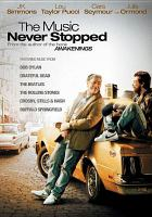 Cover image for The music never stopped
