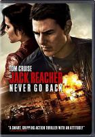 Cover image for Jack Reacher Never go back
