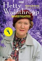 Cover image for Hetty Wainthropp investigates Series 1