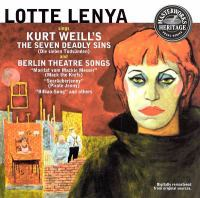 Cover image for Lotte Lenya sings Kurt Weill