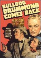 Cover image for Bulldog Drummond comes back