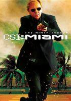 Imagen de portada para CSI: Miami, crime scene investigation The ninth season