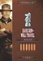 Imagen de portada para Have gun-- will travel The final season, volume 1