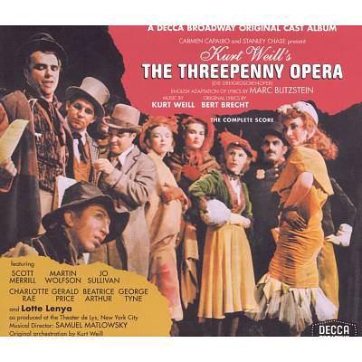 Cover image for The threepenny opera original cast album