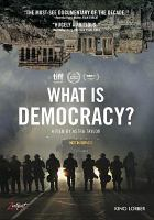 Cover image for What is democracy?