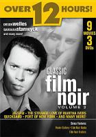 Cover image for Classic film noir. Vol. 2