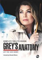 Cover image for Grey's anatomy complete twelfth season