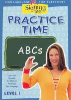 Imagen de portada para Practice time. ABCs. Level 1