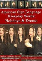 Cover image for American Sign Language everyday words Activities & events