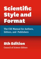 scientific style manual book cover