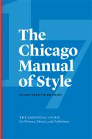 chicago style manual book cover