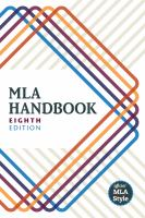 mla style manual book cover