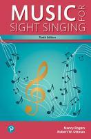 Music for sight singing / Nancy Rogers, Robert W. Ottman.