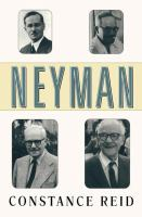 Neyman--from life / Constance Reid.