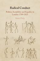 Radical conduct : politics, sociability and equality in London, 1789-1815
