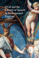Ovid and the liberty of speech in Shakespeare's England