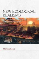 New ecological realisms : post-apocalyptic fiction and contemporary theory