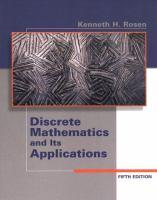 Discrete mathematics and its applications / Kenneth H. Rosen.