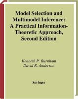 Model selection and multimodel inference : a practical information-theoretic approach 2nd ed.