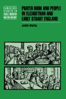 Prayer book and people in Elizabethan and early Stuart England / Judith Maltby.