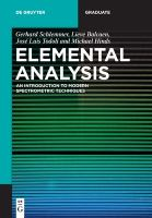 Elemental analysis : an introduction to modern spectrometric techniques