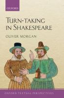 Turn-taking in Shakespeare First edition.