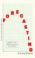 Forecasting : an essential introduction