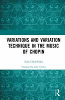 Variations and variation technique in the music of Chopin