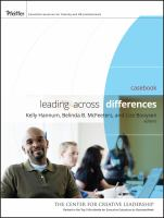 Leading across differences : cases and perspectives : participant workbook