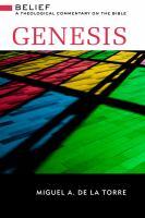 Genesis / Miguel A. De La Torre.