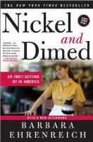 Nickel and dimed : on (not) getting by in America / Barbara Ehrenreich.