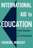International aid to education : power dynamics in an era of partnership