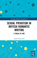 Sexual privatism in British romantic writing : a public of one