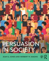 Persuasion in society Third edition.