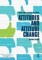 Attitudes and attitude change Second edition.