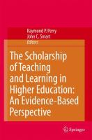 Scholarship of teaching and learning in higher education : an evidence-based perspective