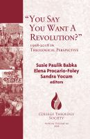 You say you want a revolution? : 1968-2018 in theological perspective