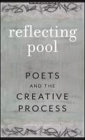 Reflecting pool : poets and the creative process