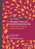 Realistic theory of social entrepreneurship : a life cycle analysis of micro-finance