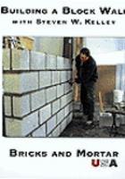 Building a block wall.