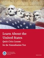 Learn about the United States : quick civics lessons for the naturalization test