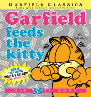 Garfield feeds the kitty