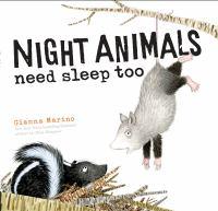 Night animals need sleep too