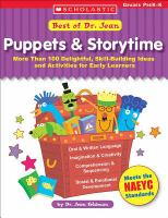 Best of Dr. Jean : puppets & storytime, more than 100 delightful, skill-building ideas and activities for early learners