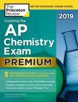 Cracking the AP chemistry exam. Premium